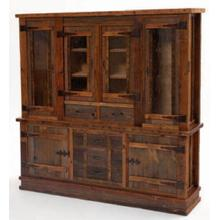 Heritage Oakridge Hutch w/ 4 Glass Doors