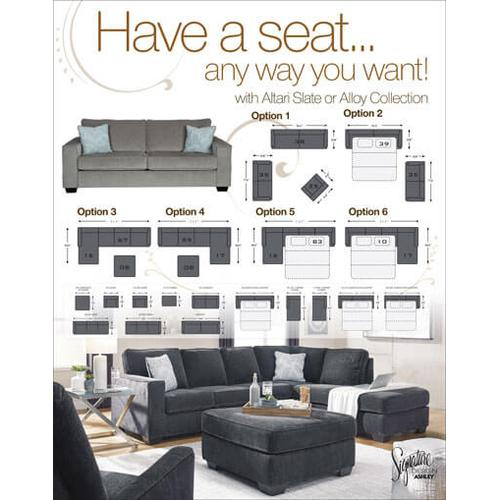 Altari - Slate - 2-Piece Sectional with Right Facing Chaise