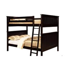 Stone Ridge Full over Full Bunk Bed - Espresso