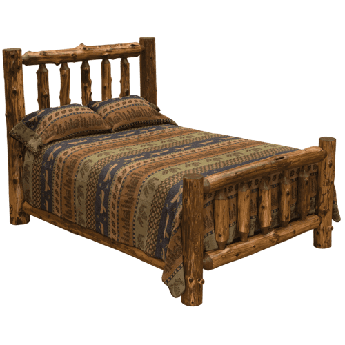 Vintage Cedar Traditional Log Bed