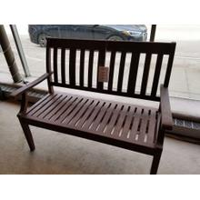 Outdoor Brown Wooden Bench