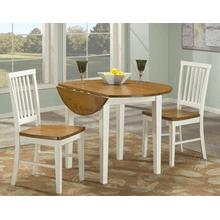 Arlington Drop Leaf - 3 Piece Set - White and Java