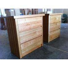 Shaker Custom Night Stands with Paneled Sides in Rustic Cherry