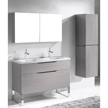 """Product Image - MILANO 48"""" DOUBLE VANITY ONLY - ASH GREY"""