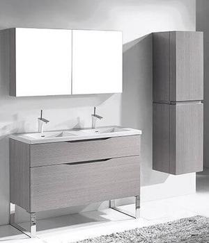 """MILANO 48"""" DOUBLE VANITY ONLY - ASH GREY Product Image"""