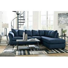 Darcy Blue 2pc. L-Shaped Sectional