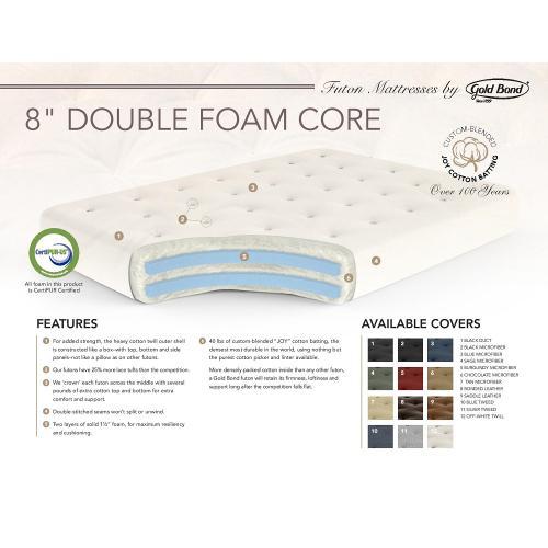 """Gallery - 8"""" Double Foam Futon Mattress"""