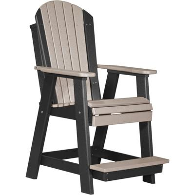 Adirondack Balcony Chair Weatherwood and Black