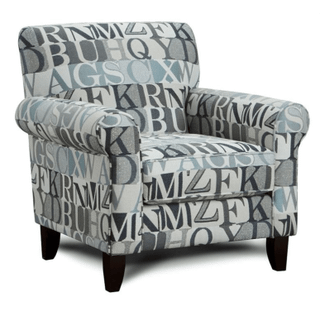 Macarena Blue Accent Chair