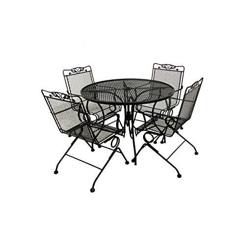 Glenbrook Round Mesh Patio Dining Table