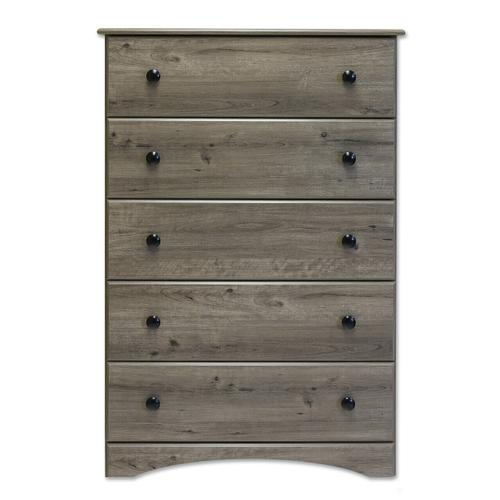 Chest 5 Drawer Weathered Gray Ash