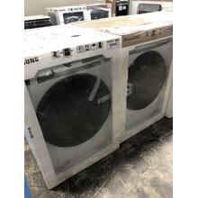 4.5 cu. ft. Front Load Washer with Steam in White AND 7.5 cu. ft. White Electric Dryer w/ Steam **OPEN BOX SET** West Des Moines Location