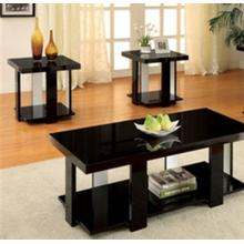Occasional Table Set, Lakoti I Collection, Contemporary Style, Black Finish