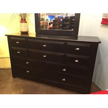 9 Drawer Dresser Black Cherry