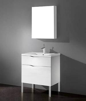 """MILANO 30"""" VANITY ONLY - GLOSSY WHITE Product Image"""