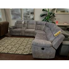Thomas Fabric Power Sectional- Dome Grey