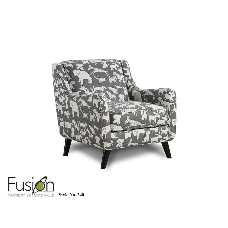Doggie Graphite Accent Chair