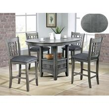 Hartwell Grey Gathering Height Table & 4 Stools
