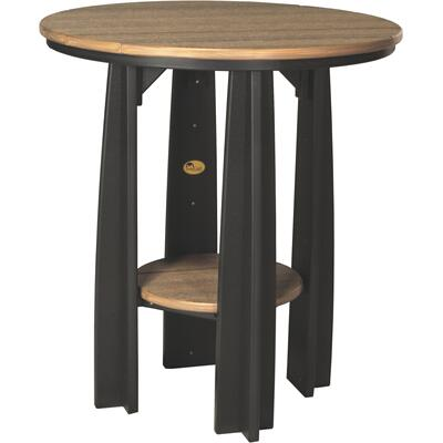 Balcony Table Premium Antique Mahogany and Black
