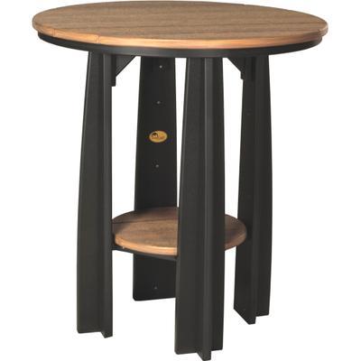 Balcony Table Premium Antique Mahogany and Black