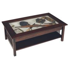 Mission Large Coffee Table With Display