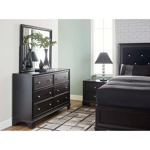 Lane Home Furnishings - Brooklyn Black Upholstered King Bed (11035)