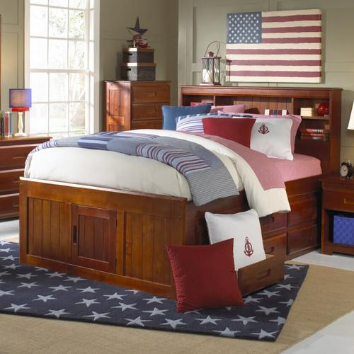Captain's Bed with 6 Drawers - Merlot