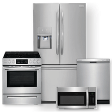 FRIGIDAIRE 26.8 Cu. Ft. French Door Refrigerator & 30'' Front Control Freestanding Electric Range Package- Minor Case Imperfections