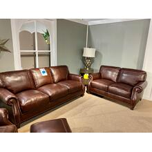 Stallion Burgundy Leather Sofa & Loveseat