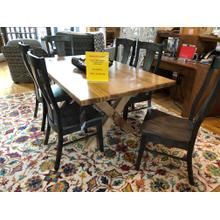 """See Details - 72"""" DINING TABLE & 6 SIDE CHAIRS"""
