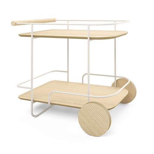 Gus Modern - Arcade Bar Cart Swan Powder Coat Ash Blonde
