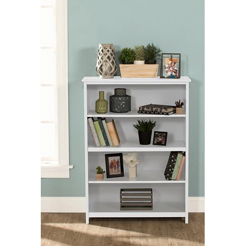 Tall Vertical Bookcase - White