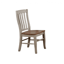 Rake Back Wood Side Chair