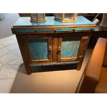 One of a Kind Blue Copper Cabinet