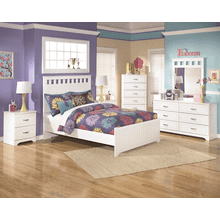 Lulu - 7 Pc.- White - Dresser, Mirror, Chest, Nightstand & Full Panel Bed