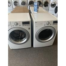 Refurbished White Electric LG Washer Dryer Set. Please call store if you would like additional pictures. This set carries our 6 month warranty, MANUFACTURER WARRANTY AND REBATES ARE NOT VALID (Sold only as a set)