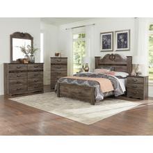 See Details - Oak Marble Headboard