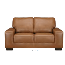 View Product - Leather Loveseat in Raven Leather Color
