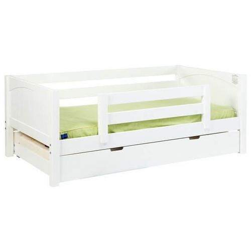 Yeah Daybed w/ Back and Front Safety Rails : Twin : White : Panel