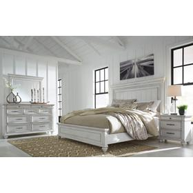Kanwyn 4 Pc. California King Panel Bedroom Set Whitewash