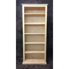 See Details - Maine Made 30X72 Bookcase 30W X 72H X 13D Pine Unfinished
