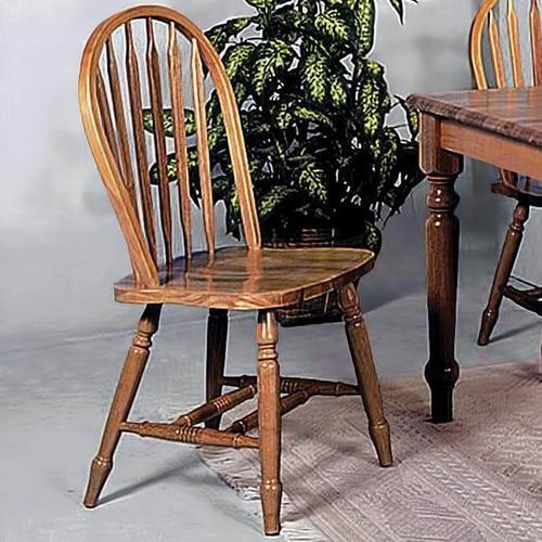 "Crown Mark - Dark Oak Arrow Windsor Chair 38""h"