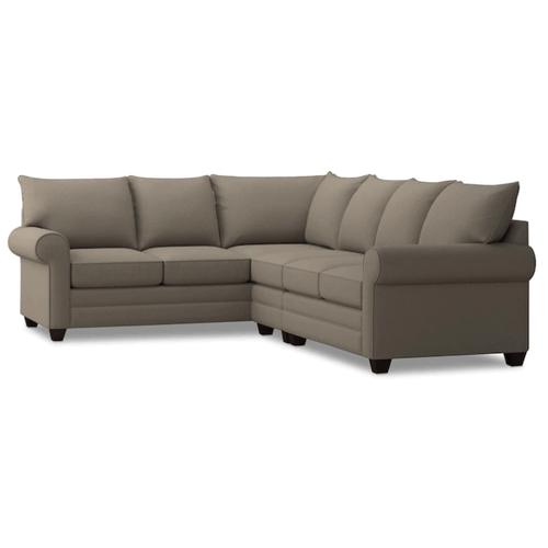 Bassett Furniture - Alex Roll Arm Right Sectional - Fog