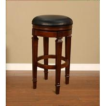 American Heritage Billiards Oxford Bar Stool in Suede with Black Vinyl