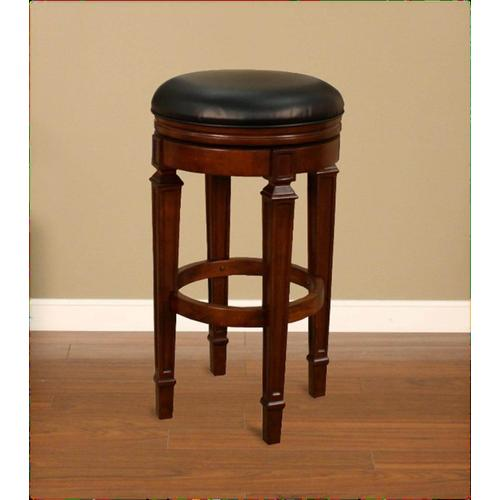 Factory Closeouts - American Heritage Billiards Oxford Bar Stool in Suede with Black Vinyl