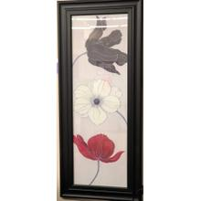 "18"" x 42"" Framed Poppy Photo"