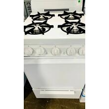 USED- 20 in. Freestanding Gas Range in White- G20WHSTV-U SERIAL #12
