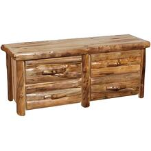4 Drawer Dresser Log Front Wild Panel Natural Log