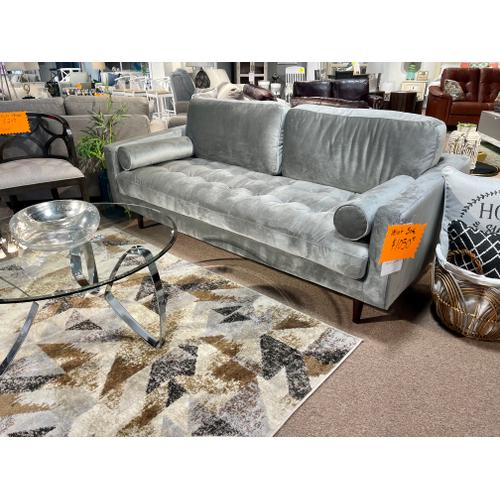 Primitive - Roma Grey Velvet Sofa