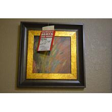 See Details - Wall art of reeds w/golden border and black frame